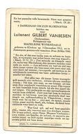 Doodsprentje Luitenant 23e Linieregiment Klerken + Zomergem 24 Mei 1940 - Santini