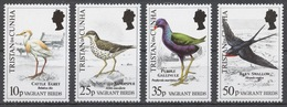 Tristan Da Cunha 1989 Mi# 481-84** BIRDS - Tristan Da Cunha