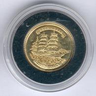 "Nordkorea 10 Won 2008 Segelschulschiff ""GORCH FOCK"" - 1g 917er Gold, Durchmesser: 16mm, Mit MDM Zertifikat, PP- - Korea (Nord-)"