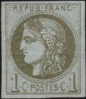 France   .    Yvert  .       39C  (2 Scans)     .     (*)     .      Pas De Gomme    .   /   .     No Gum - 1870 Emission De Bordeaux
