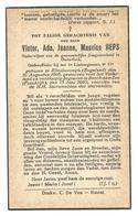 Doodsprentje Soldaat 5e Linieregiment Rumst (geb. Te Ellesborough) + Berck-sur-Mer 13 Juni 1940 - Santini