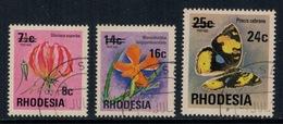 Rhodesie Du Sud // Rhodesia // 1976 // Série Courante Surchargée Oblitéré No. Y&T 266-268 - Southern Rhodesia (...-1964)