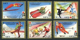 AJMAN - SAPPORO '72, OLYMPIC GAMES, JEUX OLYMPIQUES. MICHEL 1230 / 1235, ANNEE 1972 OBLITERES COMPLETE SERIE -LILHU - Sellos