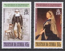 Tristan Da Cunha 1996 Mi# 603-04** PORTRAIT OF QUEEN VICTORIA - Tristan Da Cunha