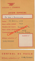 Carte D'embarquement Aviacion Y Comercio Palma-Barcelona 24 Avril 1954 - Instapkaart