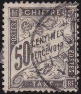 France   .    Yvert  .       Taxe  20      .        O     .    Oblitéré   .   /   .     Cancelled - 1859-1955 Gebraucht