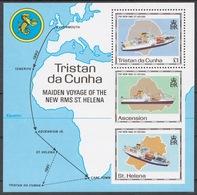 Tristan Da Cunha 1990 Mi# Bl.22** NEW RMS ST. HELENA - Tristan Da Cunha