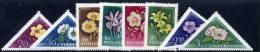 HUNGARY 1958 Flowers Set Of 8 MNH / **.  Michel; 1534-41 - Ungebraucht