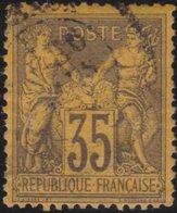 France   .    Yvert  .      93        .     O     .    Oblitéré   .   /   .     Cancelled - 1876-1898 Sage (Type II)