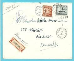 727+762 Op Brief Aangetekend Sterstempel (Relais) * GENTINNES * - 1948 Export