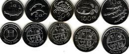 Iceland - Set 5 Coins 1 5 10 50 100 Kronur 2005 - 2011 UNC Lemberg-Zp - Islandia