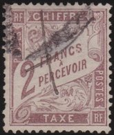 France   .    Yvert  .      Taxe  26   (2 Scans)       .     O     .    Oblitéré   .   /   .     Cancelled - 1859-1955 Oblitérés
