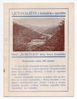 1960s YUGOSLAVIA, CROATIA, NOVA GRADISKA, HOTEL SUMETLICA, HOLIDAY BROCHURE - Tourism Brochures