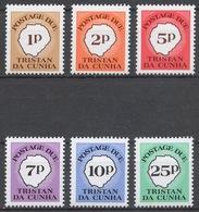 Tristan Da Cunha 1986 Postage Due Mi# 11-16** - Tristan Da Cunha