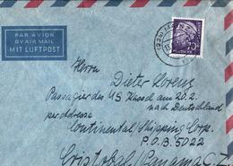 !  Heuss 1959 Mainz, Luftpostbrief Nach Panama, MS Kassel, Seltene Destination - BRD