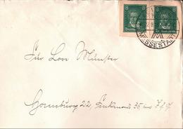 ! TOP Brief Mit 2 Ganzsachenausschnitten P176 Berühmte Deutsche Ludwig Van Beethoven, Leipziger Messe, 1928 - Entiers Postaux