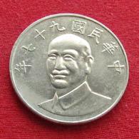 Taiwan 10 Yuan 2008 / 97 Y# 553  Lt 654 *V1 China Formosa Chine - Taiwán