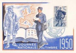 FRANCE - Carte-Maximum FDC - Journée Du Timbre 1950 à Bourges - Cartes-Maximum