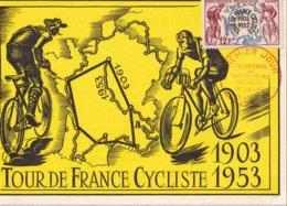 FRANCE - Carte-Maximum FDC - Tour De France Cycliste - 1950-59