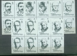 ARGENTINA - SERIE COMPLETA PERSONALIDADES EN CUADRO  (#2328) - Nuevos