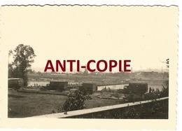 WW2 PHOTO ORIGINALE Pont Génie Allemand COURCELLES SUR SEINE P. Gaillon Aubevoye Les Andelys EURE 27 Entre Vernon Rouen - 1939-45