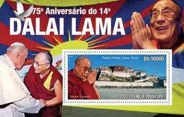 Sao Tome & Principe 2010. [st10406] 75th Anniversary Of Dalai Lama  (s\s) - Persönlichkeiten