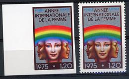 N° 1857 / NON DENTELE ANNEE INTERNATIONALE DE LA FEMME Avec Bord De Feuille ** (MNH). Cote 40€. TB - Imperforates