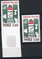 N° 1883 / NON DENTELE VERDUN Avec Un Grand Bord De Feuille Inférieur ** (MNH). TB - France