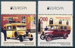 """BOSNIA/Bosnien Serbische Rep. SRPSKA  EUROPA 2013 """"Postal Vehicles"""" Set Of 2v** - 2013"""