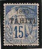 Tahiti - 1893 - N°Yv. 24 - Alphée Dubois 15c Bleu - Oblitéré / Used - Used Stamps