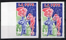 N° 1888 / NON DENTELE LA FETE Avec Bord De Feuille ** (MNH). TB - France