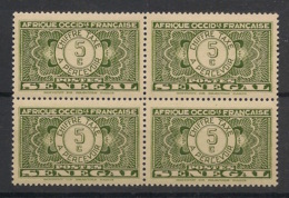 Sénégal - 1935 - Taxe TT N°Yv. 22 - 5c Jaune - Bloc De 4 - Neuf Luxe ** / MNH / Postfrisch - Postage Due