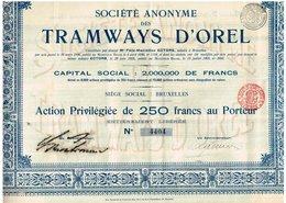 Titre Ancien - Sté Anonyme Des Tramways D' Orel -  Titre De 1905 N°4404 - Chemin De Fer & Tramway
