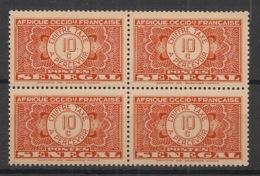 Sénégal - 1935 - Taxe TT N°Yv. 23 - 10c Rouge - Bloc De 4 - Neuf Luxe ** / MNH / Postfrisch - Postage Due
