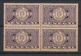 Sénégal - 1935 - Taxe TT N°Yv. 24 - 15c Violet - Bloc De 4 - Neuf Luxe ** / MNH / Postfrisch - Postage Due
