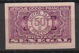 Sénégal - 1935 - Taxe TT N°Yv. 27 - 50c Lilas - Non Dentelé / Imperf. - Neuf Luxe ** / MNH / Postfrisch - Postage Due