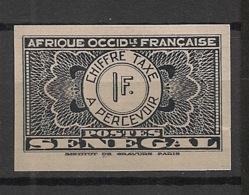 Sénégal - 1935 - Taxe TT N°Yv. 29 - 1f Noir - Non Dentelé / Imperf. - Neuf Luxe ** / MNH / Postfrisch - Postage Due