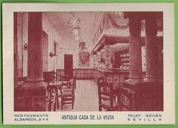 Sevilla - Antigua Casa De La Viuda - Restaurante - Publicidad - Andalucía - España - Sevilla
