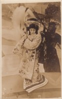 Japan, Woman Performs In Traditional Fashion, Dance? Theatre? C1900s/10s Vintage Real Photo Postcard - Japan