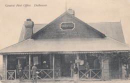Dalhousie (Himachal Region) India, Post Office Building Telegraph, Native Men In Front C1900s/10s Vintage Postcard - India