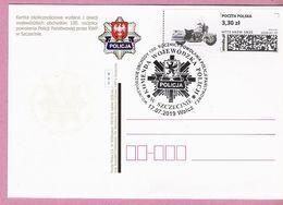 Poland 2019, WALCZ. Postcard, Road Police, Motorbike, LIMITED EDITION Issued By Poczta Polska - Polizei - Gendarmerie