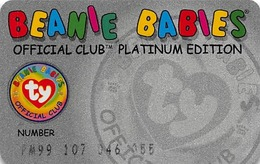 Beanie Babies Office Club Platinum Edition - Member Card - Other Collections