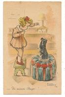"""Illustrateur ROGER LEVASSEUR  """" UN SUCRE BAYOU """" FILLETTE ET CHIEN  Animal - Chiens"""