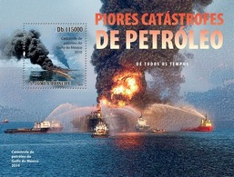Sao Tome & Principe 2010. [st10506] The Worst Oil Disaster (s\s+bl) - Stamps