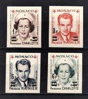 MONACO 1951 SERIE -  N° 379B  A  382B - 4 TP NEUFS** /1 - Monaco