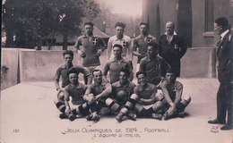 Jeux Olympiques Paris 1924, Football Equipe D'Italie (157) Usure Des Angles - Jeux Olympiques
