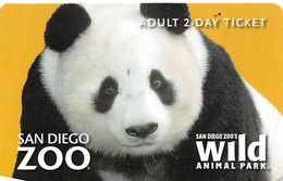 San Diego Zoo Adult 2 Day Ticket - Cartes Cadeaux