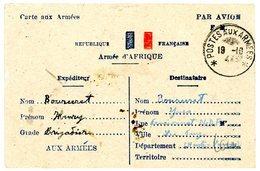 CPFM 1944 PAR AVION FM / ARMEE D'AFRIQUE CAD POSTES AUX ARMEES SP 62071 - Marcophilie (Lettres)