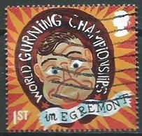 GROSSBRITANNIEN GRANDE BRETAGNE GB 2019 CURIOUS CUSTOMS: WORLD GURNING CHAMPIONSHIPS 1st USED SG 4225 MI 4331 YT 4809 - 1952-.... (Elizabeth II)