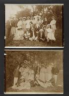 Conjunto De 2 Fotografias Antigas: Grupo De Amigos (FIGUEIRA Da FOZ ?). Old Photo Sepia (Coimbra) PORTUGAL - Fotos